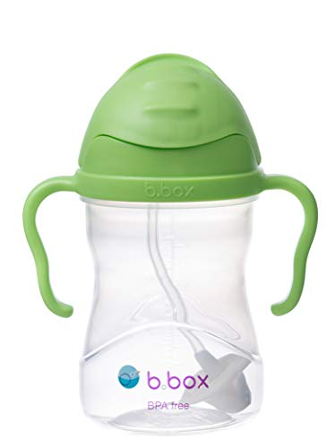 b.box Sippy Cup with Innovative Weighted Straw | Easy-Grip Handle | Color: Neon Cobalt Blue | 8 oz. | BPA-Free | Phthalates & PVC Free | Dishwasher Safe