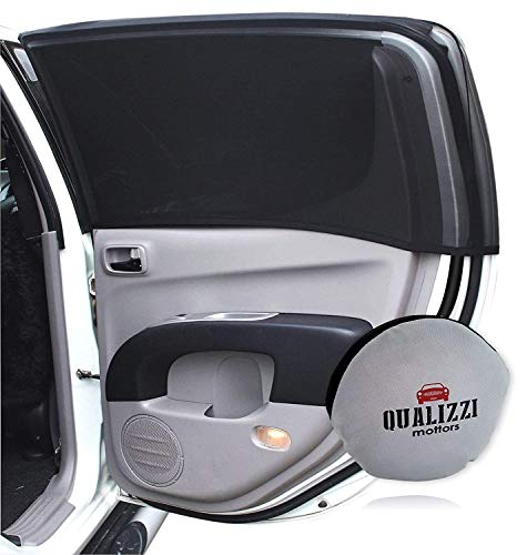 Qualizzi XXL-Size/Car Window Sun Shades for SUVs up to 46-51' x 23-25' for Side Windows Sun Protection for Baby. Window Socks (2-Pack)