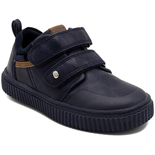 Naturino E Kids Boys Designer Sneaker Shoes with Double Strap Closure   Pace Navy 9 Toddler
