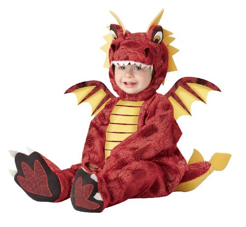 California Costumes Adorable Dragon Infant, Red/Yellow, 12-18