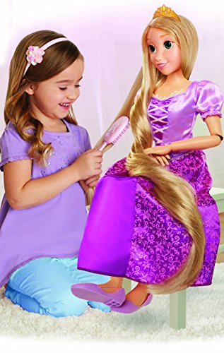 Disney Princess Rapunzel 32' Playdate, My Size Articulated Doll, Comes with Brush to Comb Her Long Golden Locks, Movie Inspired Purple Dress, Removable Shoes & A Tiara