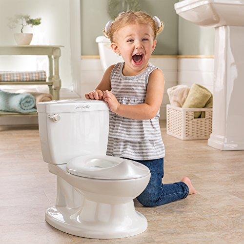 Summer My Size Potty, White – Realistic Potty Training Toilet Looks and Feels Like an Adult Toilet – Easy to Empty and Clean