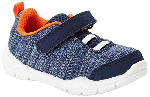 Simple Joys by Carter's Kids' Knitted Unisex Athletic Shoe Sneaker, Navy, 6 M US Toddler