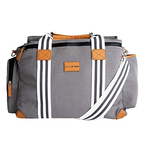 Baby K'tan Weekender Bag - Large Diaper Bag with Baby Changing Pad - Charcoal
