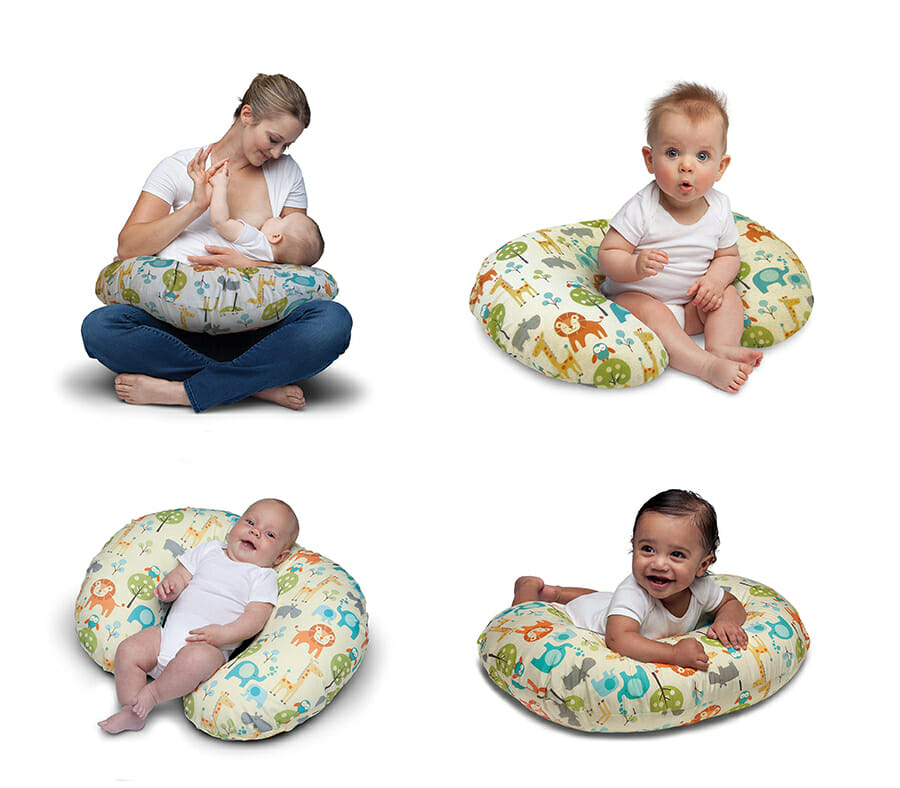 Some of the many uses of a boppy pillow